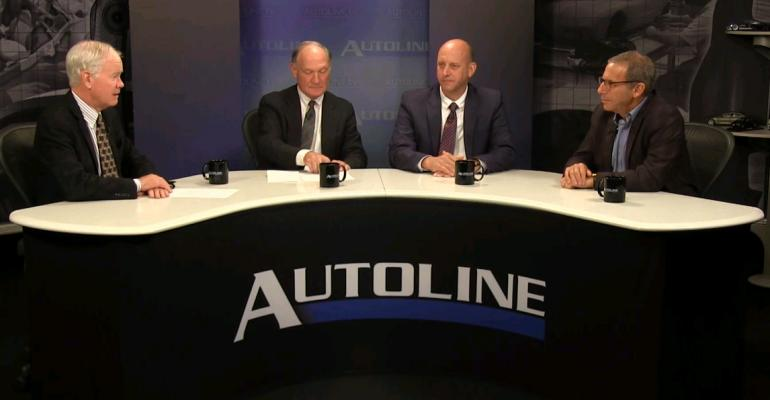 From left McElroy Finlay Kapusta and Glassman discuss issues affecting usedcar market