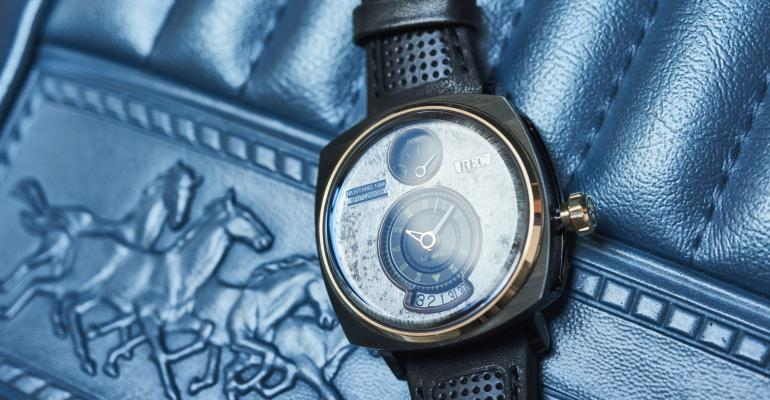 Watch made from reclaimed parts from vintage Ford Mustangs