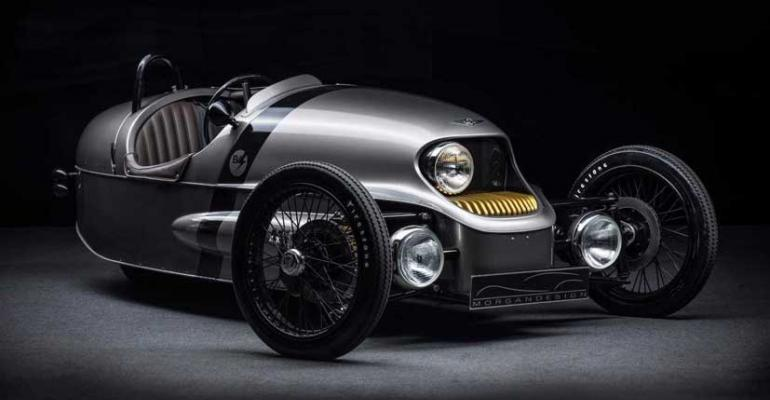 Retro styling cues found on electric 3wheeler