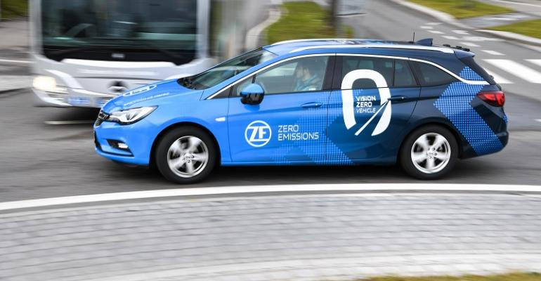 Vehicle with ZF Level 4 autonomous capability testing in Germany