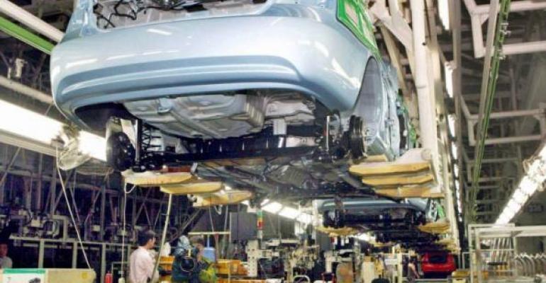 Five plants comprising Hyundairsquos Ulsan Korea complex face partial shutdown