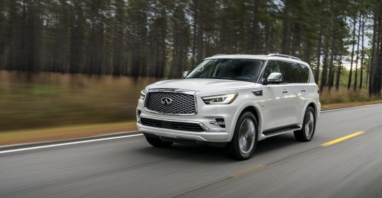 3918 QX80 on sale now at US Infiniti dealers