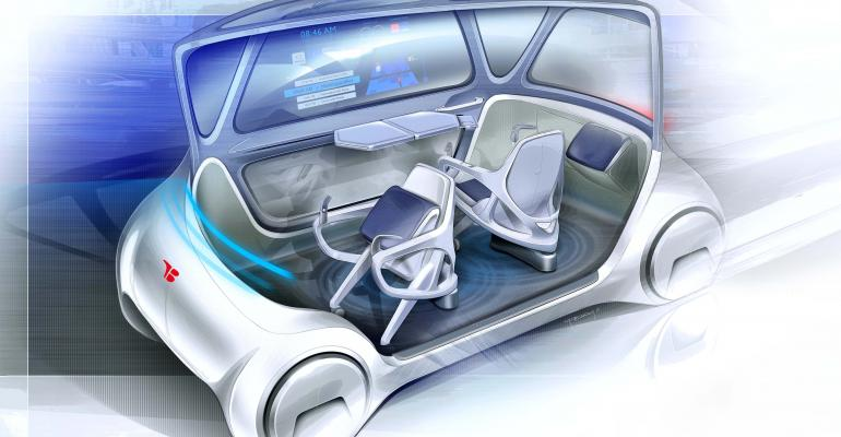 Supplier displayed MOOX flexible seating concept at Tokyo auto show