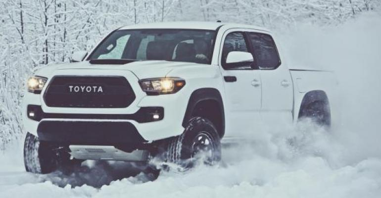 Toyota Tacoma such as 3917 TRD Pro edition leads compact truck sector but Toyota lags in fullsize trucks and SUVs