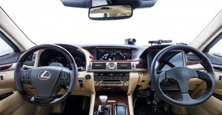 Interior of Toyota39s Platform 21 concept gauges autonomoustohuman control