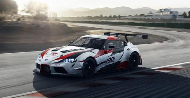 90 on Supra concept39s door a nod to codename of vehicle