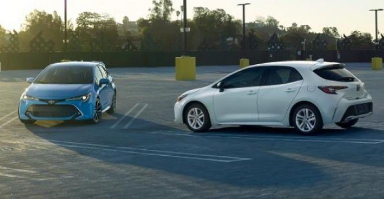 New Corolla hatch on sale in July in US