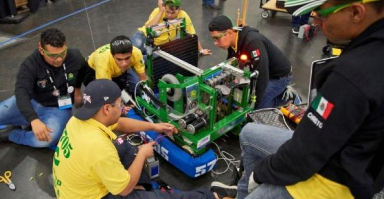 Keeping robots up and running big part of competition in FIRST World Championships