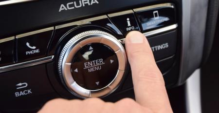 Information menu button on Acura TLX center stack